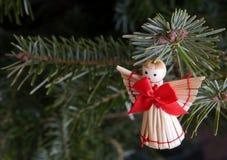 Met de hand gemaakte Kerstmisengel Stock Fotografie