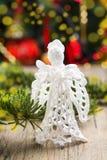 Met de hand gemaakte Kerstmisengel Royalty-vrije Stock Fotografie