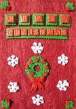 Met de hand gemaakte Kerstmiskaart Stock Afbeelding