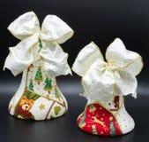 Met de hand gemaakte Kerstmisklokken royalty-vrije stock foto