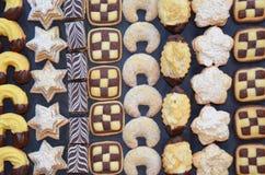 Met de hand gemaakte Kerstmiskoekjes Royalty-vrije Stock Fotografie
