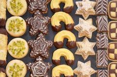 Met de hand gemaakte Kerstmiskoekjes Stock Foto