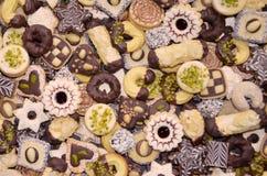 Met de hand gemaakte Kerstmiskoekjes Stock Foto's