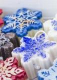 Met de hand gemaakte Kerstmiszeep royalty-vrije stock foto's