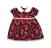 Met de hand gemaakte kleding voor babymeisje Stock Afbeelding