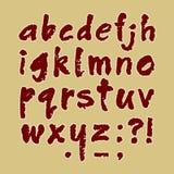 Met de hand gemaakte in kleine letters van ABC Stock Afbeelding