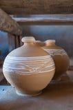 Met de hand gemaakte kleipotten Stock Afbeelding