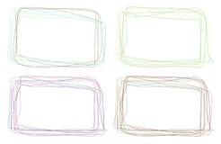 Met de hand gemaakte kleurenframes Royalty-vrije Stock Foto