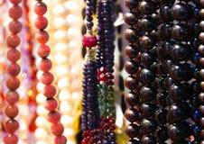 Met de hand gemaakte kleurrijke parels Royalty-vrije Stock Foto