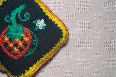 Met de hand gemaakte kniting wolachtergrond Stock Afbeeldingen