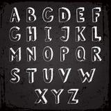 Met de hand gemaakte lettersoort Royalty-vrije Stock Afbeeldingen