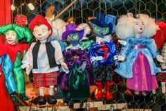 Met de hand gemaakte marionetten stock fotografie