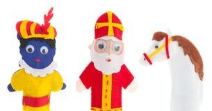 Met de hand gemaakte marionetten Nederlandse Sinterklaas Stock Afbeelding