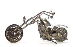 Met de hand gemaakte metaalmotorfiets Stock Fotografie