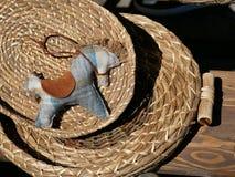 met de hand gemaakte milieuvriendelijk van het speelgoedpaard royalty-vrije stock afbeelding