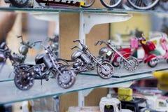 Met de hand gemaakte minimotorfietsen royalty-vrije stock afbeelding