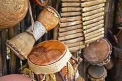 Met de hand gemaakte muzikale instrumenten Royalty-vrije Stock Foto