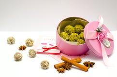 Met de hand gemaakte Natuurlijke snoepjes Stock Fotografie