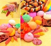 Met de hand gemaakte natuurlijke zeep, shells en kiezelstenen Royalty-vrije Stock Afbeeldingen