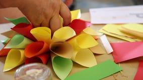 Met de hand gemaakte origami stock footage