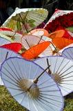 Met de hand gemaakte paraplu in Thailand Royalty-vrije Stock Afbeelding