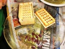 Met de hand gemaakte pillen stock fotografie