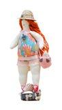 Met de hand gemaakte poppen mollige vrouw in een badpak en a  Stock Afbeeldingen
