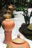 Met de hand gemaakte potten/vazen stock fotografie