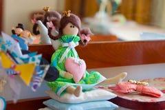 Met de hand gemaakte prinsespop Stock Afbeeldingen