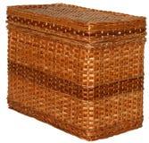 Met de hand gemaakte rieten doos Royalty-vrije Stock Afbeeldingen
