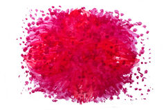 Met de hand gemaakte rode waterverf abstracte cirkel Royalty-vrije Stock Afbeelding