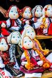 Met de hand gemaakte Roemeense poppen Royalty-vrije Stock Fotografie