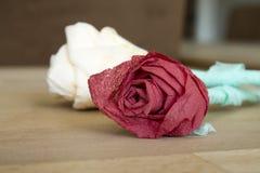 Met de hand gemaakte rozen Royalty-vrije Stock Fotografie