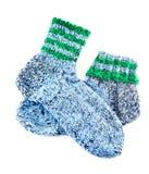 Met de hand gemaakte sokken stock afbeeldingen