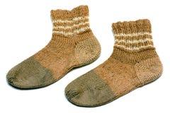 Met de hand gemaakte sokken Stock Afbeelding