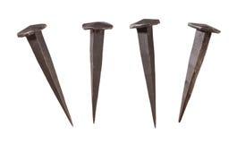 Met de hand gemaakte Spijkers die met het Knippen van weg worden geïsoleerdz Stock Fotografie