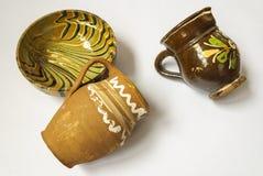Met de hand gemaakte traditionele potten Royalty-vrije Stock Afbeelding