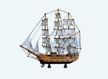 Met de hand gemaakte varende boot Royalty-vrije Stock Foto's
