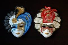 Met de hand gemaakte Venetiaanse maskers stock afbeelding