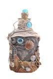Met de hand gemaakte verfraaide fles Royalty-vrije Stock Foto's