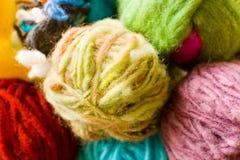 Met de hand gemaakte wol stock afbeeldingen