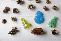 Met de hand gemaakte zeep als gift Stock Foto