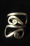 Met de hand gemaakte Zilveren Juwelen Stock Foto
