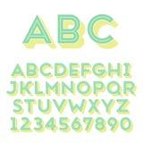 Met de hand gemaakte zonder-serifdoopvont stock illustratie