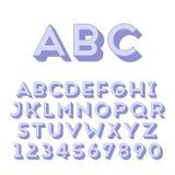 Met de hand gemaakte zonder-serifdoopvont vector illustratie