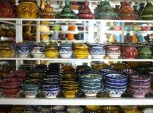 Met de hand geschilderd keramiek en aardewerk royalty-vrije stock afbeeldingen