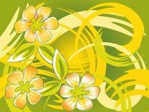 Met de hand geschilderde bloemen Stock Illustratie