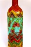 Met de hand geschilderde fles Stock Foto's