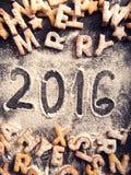 Met de hand geschreven 2016 Stock Afbeeldingen