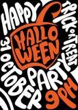 Met de hand geschreven affiche voor Halloween-partij lettering Royalty-vrije Stock Foto